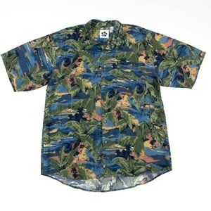 Hilo Hattie Blue/Green Aloha Hawaiian Shirt